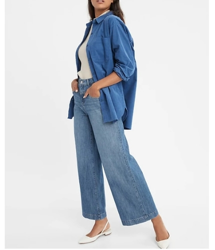 banana republic High-Rise Wide-Leg  Jean - 바로출고