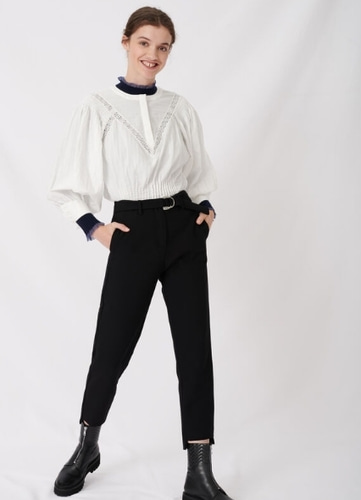 Maje STRAIGHT PANTS BELTED