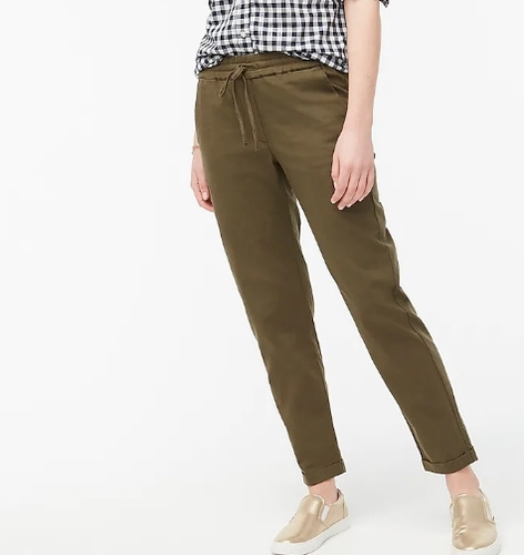 J.Crew Linen-cotton pants
