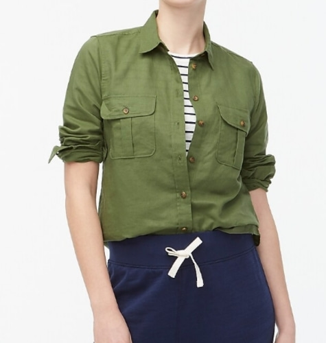 J.Crew Linen-cotton shirt